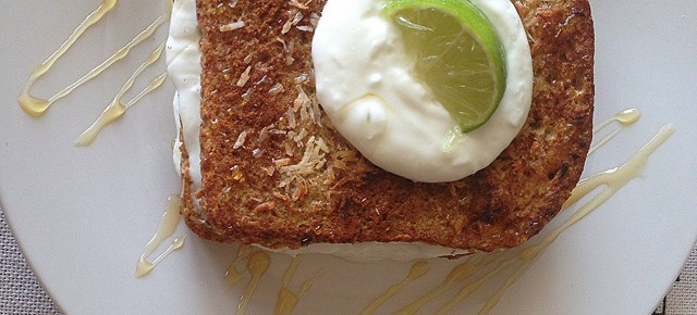 """Key Lime Pie"" Stuffed French Toast"