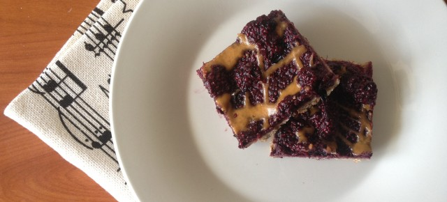 Almond Butter and Jelly Bars