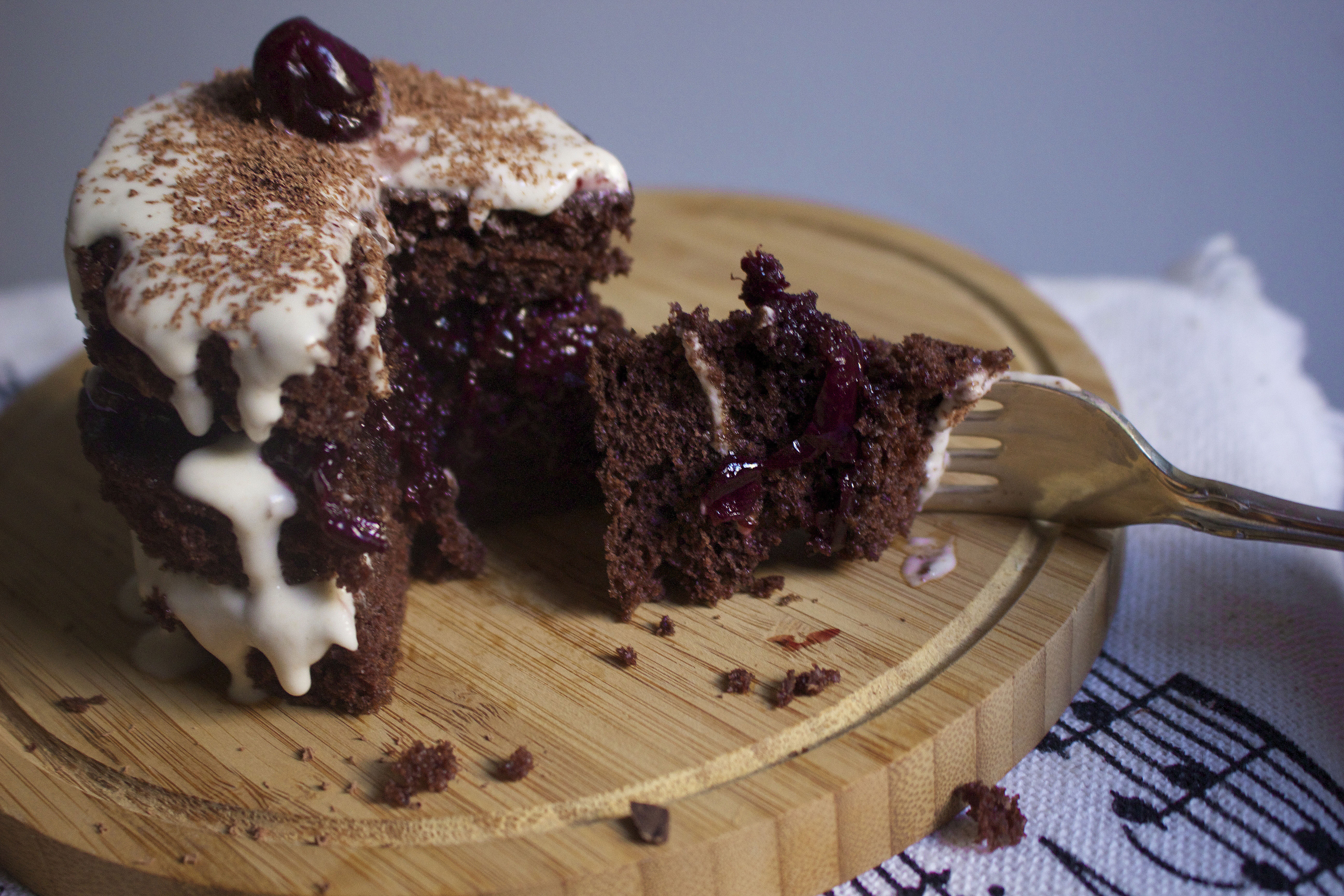 Mini Black Forest Cakes Happy Birthday Brahms The Hungry Musician